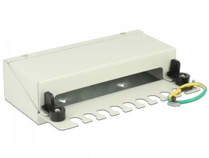 Keystone Desktop Patchpanel 8 Port grau, Delock® [43336]