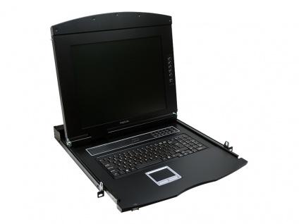 19' LCD KVM Konsole mit 17' TFT Monitor und Tastatur (US), LogiLink® [LC702US]