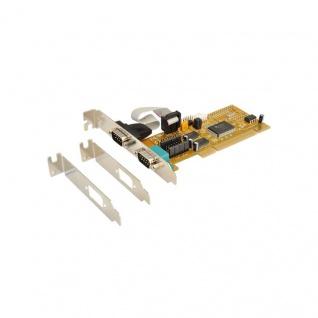 PCI 2S Seriell RS-232 Karte (MosChip Chip-Set ) inkl. LowProfile Bracket, Exsys® [EX-41052]