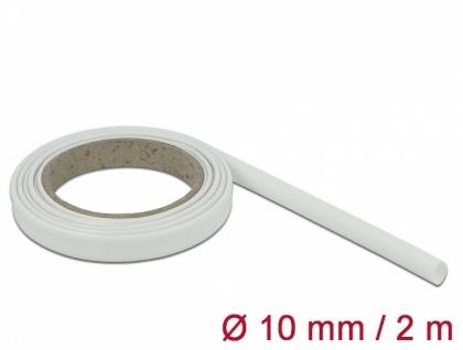 Schutzschlauch Glasfasergeflecht 2 m x 10 mm weiß, Delock® [18934]