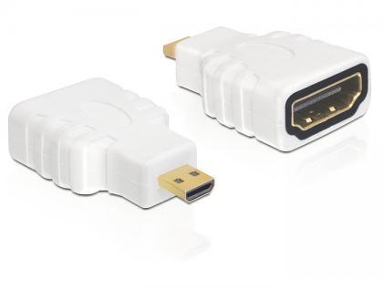 Adapter, 19 Pin micro HDMI- D Stecker an 19 Pin HDMI - A Buchse, Delock® [65276]