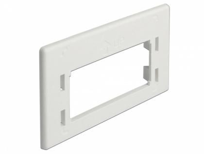 Keystone Adapterplatte für Möbeleinbaudosen, weiß, Delock® [86290]