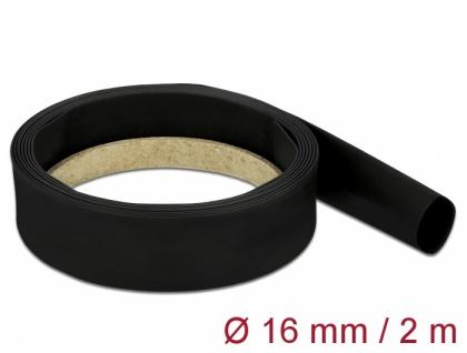 Schrumpfschlauch 2 m x 16 mm schwarz, Delock® [18983]