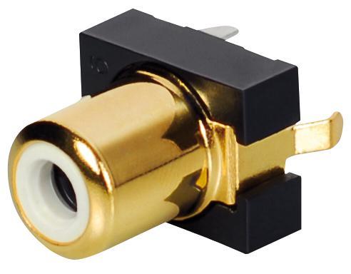 Einbaubuchse, Cinch, vergoldet, weiß, Good Connections®