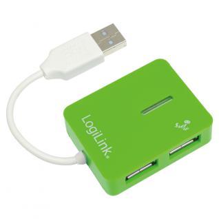 USB 2.0 Hub, 4-Port, Smile, Grün, LogiLink® [UA0138]