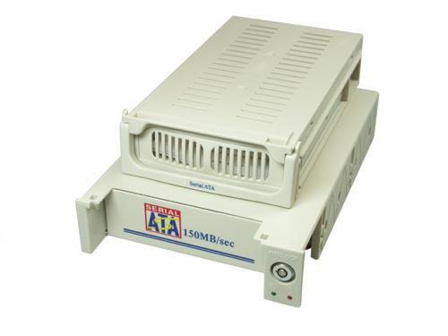 Wechselrahmen für S-ATA Festplatten, Kunststoffgehäuse