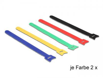 Klett-Kabelbinder farbig L 240 x B 12 mm 10 Stück, Delock® [18636]