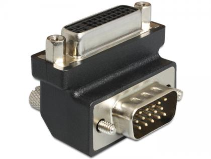 Adapter, DVI, 24+5 Pin Buchse zu VGA 15 Pin, Stecker 270____deg; gewinkelt, Delock® [65426]