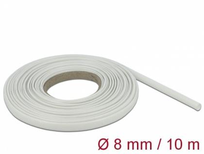 Schutzschlauch Glasfasergeflecht 10 m x 8 mm weiß, Delock® [18933]