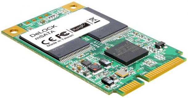 Flash Modul MiniPCIe Speicher mSATA 6 Gb/s WT, 8GB, -40____deg; C ~ +85____deg; C, Delock® [54705]