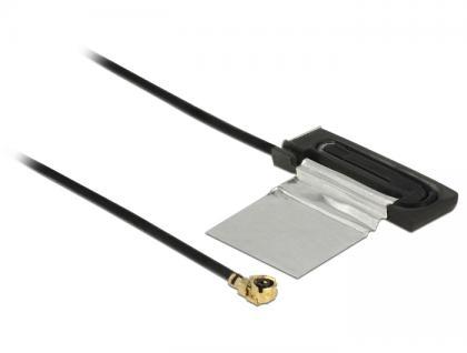 WLAN Antenne MHF /UF.LP-068 kompatibler Stecker 802.11 ac/a/h/b/g/n CCD 1 dBi 200 mm intern, Delock® [86270]