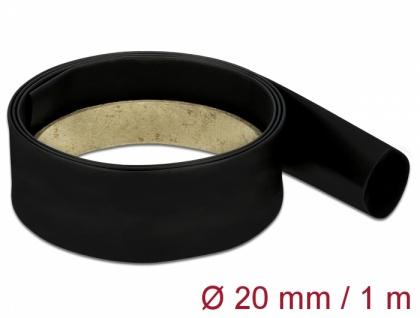 Schrumpfschlauch 1 m x 20 mm schwarz, Delock® [18978]