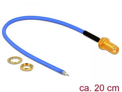 Antennenkabel SMA Buchse zum Einbau an offenes verzinntes Kabelende (RG-405 semi flexible) low loss, 0, 2m, Delock® [89524]