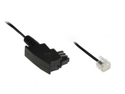 DSL Kabel, TAE-F St an Western 6/2 St, 3m, mit versetzter Klinke, Good Connections®