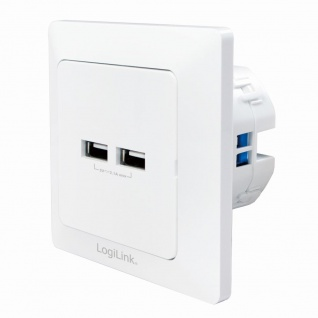 Unterputz-Dose mit 2x USB-Port, LogiLink® [PA0163]