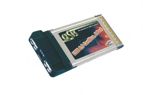 PCMCIA USB 2.0 Karte mit 2 Ports, Exsys® [EX-1200]