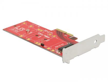 PCI Express x4 Karte an 1x intern NVMe M.2 Key M 110 mm mit Kühlkörper - Low Profile Form Faktor, Delock® [89577]