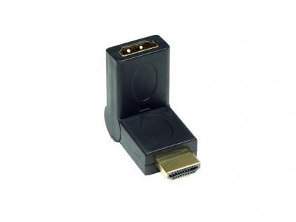 Adapter HDMI 19pol Stecker/Buchse, abwinkelbar, Good Connections®