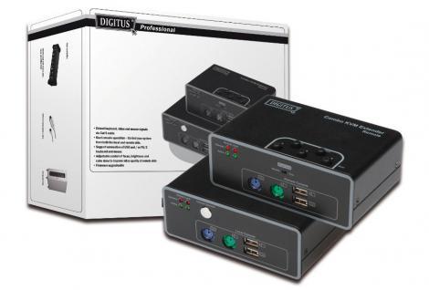 Extender, Combo KVM , USB und PS/2 Anschlüsse, Digitus® [DS-51110]