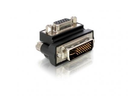 Adapter VGA Buchse an DVI 29pin Stecker rechts gewinkelt, Delock® [65172]