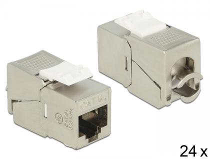 Keystone Modul RJ45 Buchse an LSA Cat.6A kompakt 24 Stück, Delock® [86479]