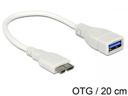 OTG Kabel Micro USB 3.0 an USB 3.0-A Buchse, Delock® [83469]