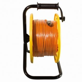 CAT.6A 500 MHz Netzwerkkabel auf Trommel, mit Cat.6A RJ45 Anschlussbuchsen, 60 m, orange, LogiLink® [CQ3060S]