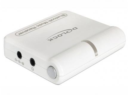 Musikempfänger Bluetooth, Kabel Klinke zu 2 x Cinch, weiß, Delock® [27167]