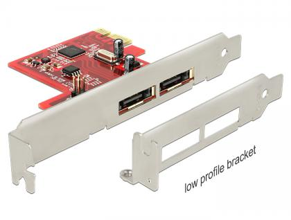 PCI Express Karte an 2 x eSATA 6 Gb/s mit RAID - Low Profile Form Faktor, Delock® [89432] - Vorschau