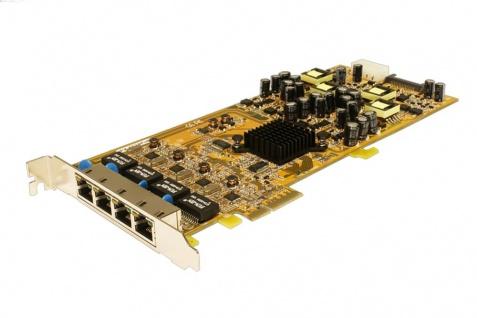 PCIe Quad Ethernet Karte mit 4 x Gigabit Ports (Realtek Chip-Set RTL 8111E), unterstützt mit PoE (Power over Ethernet), Exsys® [EX-6074PoE]