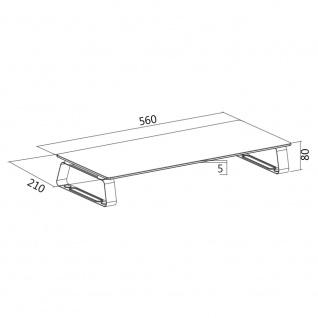 Monitorerhöhung /-tisch aus Glas, max. 20 kg Belastung, LogiLink® [BP0027]