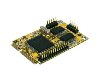 Mini PCI-Express 2S Seriell RS-232 mit 2 x FIFO 16C550 und 1P Parallel EPP/ECP Multi I/O Karte (MosChip Chip-Set), Exsys® [EX-48023]