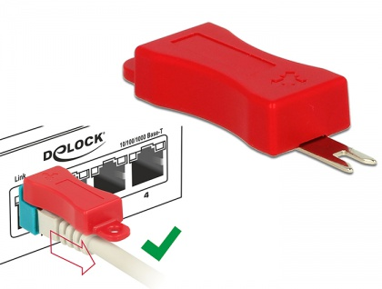 RJ45 Secure Clip Starter Set, 20 Stück , Delock® [86406]
