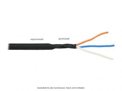 kabelmeister® Schrumpfschlauch, schwarz, Schrumpfbereich: 20 bis 10 mm, 1m