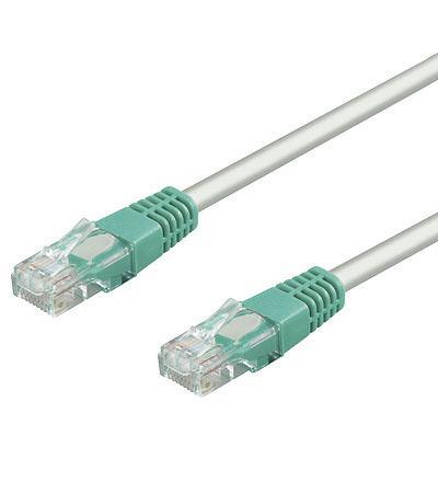 Patchkabel, Cat. 5e, U/UTP, crossover, grau, 0, 5m, Good Connections®