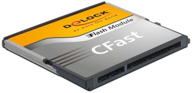 Speicherkarte CFast-Card SATA 6 Gb/s WT 64GB MLC -40____deg; C ~ +85____deg; C, Delock® [54702]