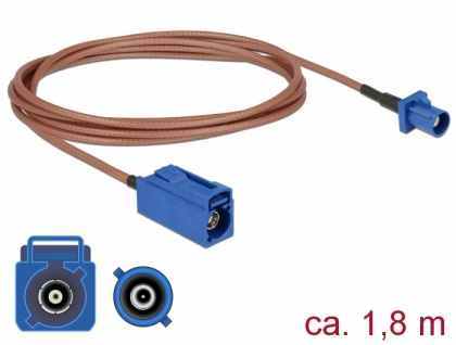 Antennenkabel FAKRA C Buchse an FAKRA C Stecker RG-316 1, 8 m, Delock® [89669]