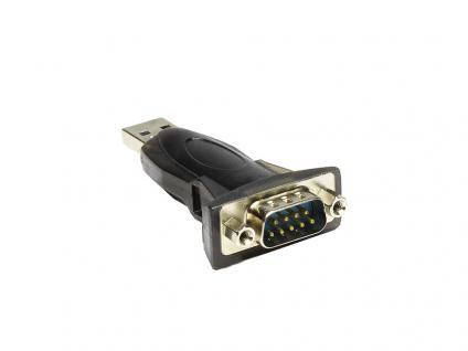 Adapter USB zu Seriell RS-232, USB A Stecker an 9 Pol SUB-D Stecker, Good Connections®