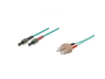 kabelmeister® Patchkabel LWL Duplex OM3 (Multimode, 50/125) ST/SC, 3m