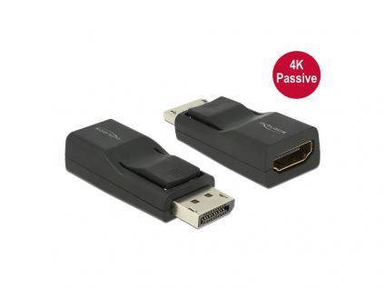Adapter DisplayPort 1.2 Stecker an HDMI Buchse 4K Passiv, schwarz, Delock® [65685]