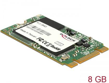 M.2 SATA 6 Gb/s SSD Industrial 8 GB (S42) Toshiba MLC, Delock® [54788]