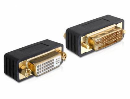 Adapter DVI 24+5 Stecker auf Buchse, Delock® [65298]