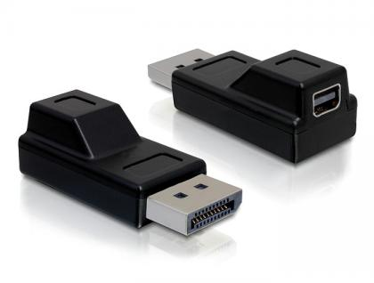 Adapter Displayport Stecker an Displayport mini Buchse, schwarz, Delock® [65237]