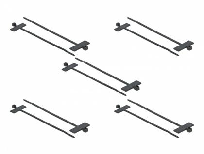 Kabelbinder mit Beschriftungsfeld L 100 x B 2, 5 mm schwarz 10 Stück, Delock® [18958]