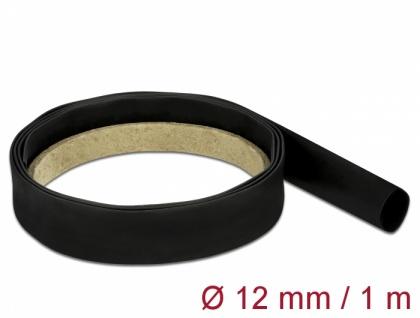 Schrumpfschlauch 1 m x 12 mm schwarz, Delock® [18975]
