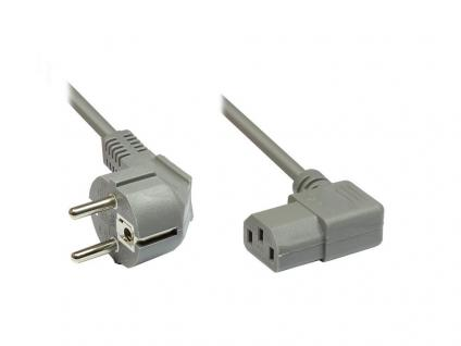 kabelmeister® Netzkabel mit Kaltgerätebuchse (rechts abgewinkelt), 2m