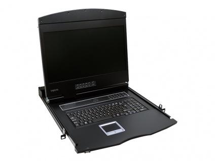 19' LCD KVM Konsole mit 19' TFT Monitor und Tastatur (US), LogiLink® [LC902US]