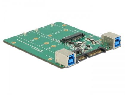 Konverter SATA / USB 3.1 Typ-B Buchse an M.2 / mSATA Slot, Delock® [62732]