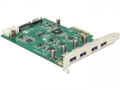 PCI Express Karte x4 an 4 x extern USB 3.0-A (Quad Channel), Delock® [89325]