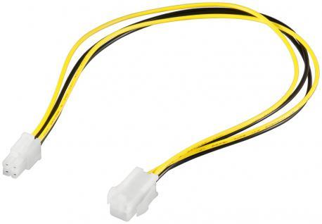 kabelmeister® Interne Stromkabelverlängerung P4 4pol Stecker auf Buchse, 0, 3m